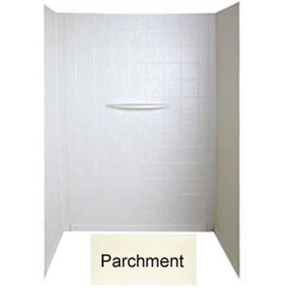 """Picture of Better Bath  1-Piece Parchment 24""""L x 36""""W x 56""""H Shower Surround 209459 10-1736"""