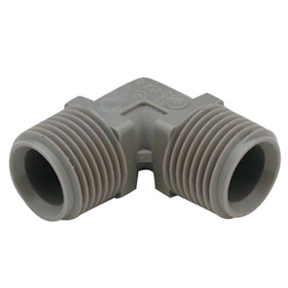 """Picture of QEST Qicktite (R) 1/2"""" MPT Gray Acetal Fresh Water Elbow  10-3052"""