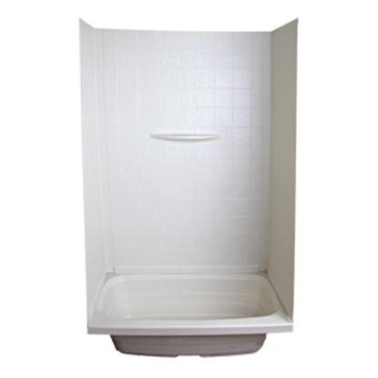 """Picture of Better Bath  1-Piece Parchment 24""""L x 36""""W x 59""""H Shower Surround 209461 10-5737"""